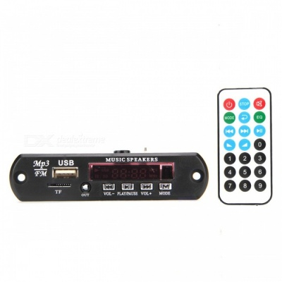 Bluetooth V4.0 Stereo FLAC WAV WMA MP3 APE Audio Decoder Board - Black