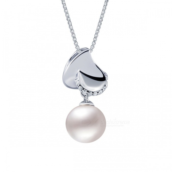 SILVERAGE Genuine 925 Silver Freshwater Pearl Pendant Chain Necklace