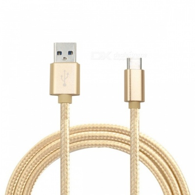 Universal Type-C to USB Charging Data Cable - Golden