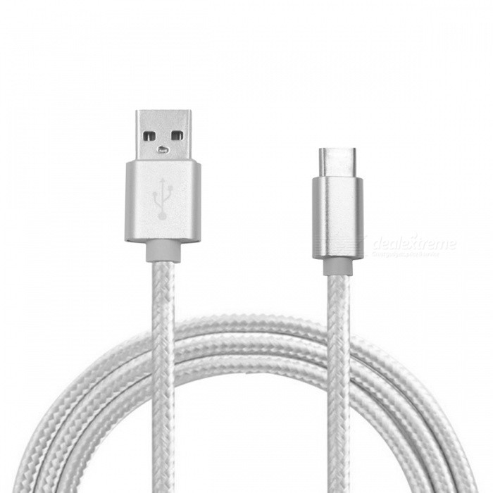 Universal Type-C to USB Charging Data Cable - Silver