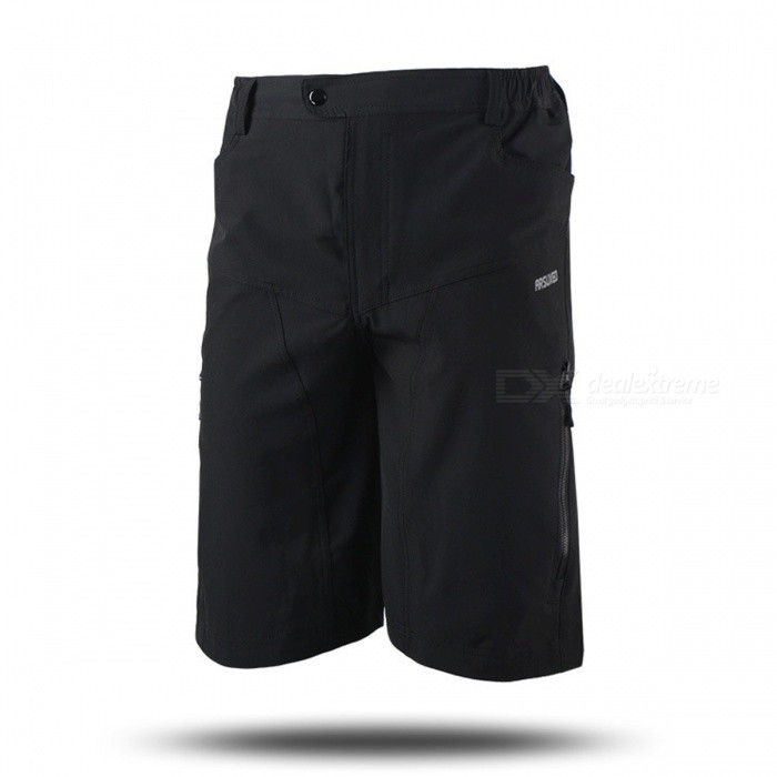 ARSUXEO DH-2 Mens Casual Shorts for Mountain Cycling - Black (M)Form  ColorBlackSizeMModelDH-2Quantity1 DX.PCM.Model.AttributeModel.UnitMaterialPolyesterGenderMensSeasonsSpring and SummerShoulder WidthNo DX.PCM.Model.AttributeModel.UnitChest GirthNo DX.PCM.Model.AttributeModel.UnitSleeve LengthNo DX.PCM.Model.AttributeModel.UnitWaist74-94 DX.PCM.Model.AttributeModel.UnitHip Girth106 DX.PCM.Model.AttributeModel.UnitTotal Length53 DX.PCM.Model.AttributeModel.UnitThigh Girth62 DX.PCM.Model.AttributeModel.UnitLength Of Hem54 DX.PCM.Model.AttributeModel.UnitSuitable for Height160-170 DX.PCM.Model.AttributeModel.UnitBest UseCycling,Mountain Cycling,Recreational Cycling,Road Cycling,Triathlon,Bike commuting &amp; touringSuitable forAdultsTypeShort PantsOther FeaturesBreathable / Quick Dry / Anatomic Design / Back Pocket / WickingPacking List1 x Shorts<br>