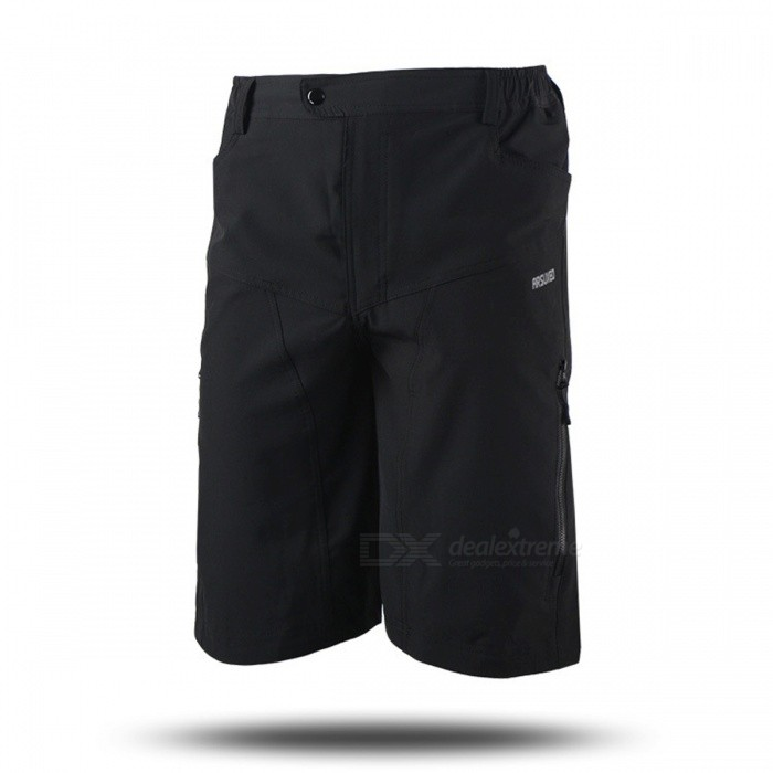 ARSUXEO DH-2 Mens Casual Shorts for Mountain Cycling - Black (L)Form  ColorBlackSizeLModelDH-2Quantity1 DX.PCM.Model.AttributeModel.UnitMaterialPolyesterGenderMensSeasonsSpring and SummerShoulder WidthNo DX.PCM.Model.AttributeModel.UnitChest GirthNo DX.PCM.Model.AttributeModel.UnitSleeve LengthNo DX.PCM.Model.AttributeModel.UnitWaist78-98 DX.PCM.Model.AttributeModel.UnitHip Girth110 DX.PCM.Model.AttributeModel.UnitTotal Length55 DX.PCM.Model.AttributeModel.UnitThigh Girth64 DX.PCM.Model.AttributeModel.UnitLength Of Hem56 DX.PCM.Model.AttributeModel.UnitSuitable for Height165-175 DX.PCM.Model.AttributeModel.UnitBest UseCycling,Mountain Cycling,Recreational Cycling,Road Cycling,Triathlon,Bike commuting &amp; touringSuitable forAdultsTypeShort PantsOther FeaturesBreathable / Quick Dry / Anatomic Design / Back Pocket / WickingPacking List1 x Shorts<br>