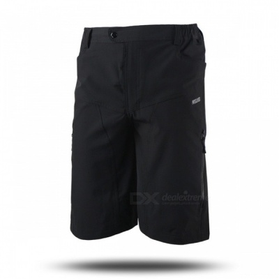 ARSUXEO DH-2 Men's Casual Shorts for Mountain Cycling - Black (L)