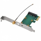 Mini PCI-Express to PCI-Express Adapter Card with 2dBi Antenna