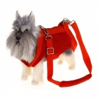 Multi-function Mesh Pet Puppy Dog Harness Carrier Bag - Red (S)