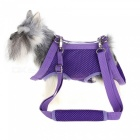 Multi-function Mesh Pet Puppy Dog Harness Carrier Bag - Purple (XL)