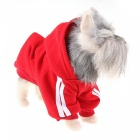 Pet Dog Puppy Hoodie Pullover Sweater Sweatshirt Apparel - Red (M)
