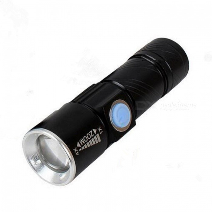 Q5 Mini USB Charging Super Bright Zoom Flashlight - Black + WhiteOther Batteries Flashlights<br>Form  ColorWhite + BlackModelBLH015Quantity2 DX.PCM.Model.AttributeModel.UnitMaterialAluminum alloyOther FeaturesWaterproof,Zoom-to-throw,Rechargeable,Tactical,Others,MiniBrandOthers,KeenboyEmitter BrandOthers,LEDLED TypeOthers,Q5Emitter BINQ5Number of Emitters1Color BINWhiteWorking Voltage   3.5~4.2 DX.PCM.Model.AttributeModel.UnitPower SupplyBuilt in rechargeable lithium batteryCurrent0.8 DX.PCM.Model.AttributeModel.UnitTheoretical Lumens300 DX.PCM.Model.AttributeModel.UnitActual Lumens240 DX.PCM.Model.AttributeModel.UnitRuntime3 DX.PCM.Model.AttributeModel.UnitNumber of Modes3Mode ArrangementHi,Low,Slow StrobeMode MemoryNoSwitch TypeClicky SwitchSwitch LocationSideLensGlassReflectorNoBeam Range500 DX.PCM.Model.AttributeModel.UnitStrap/ClipNoOutput(lumens)201-500Runtime(hours)4.1 and abovePacking List1 x LED flashlight1 x Packing bag<br>