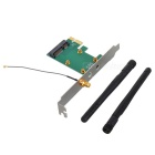 Mini PCI-Express para PCI-Express Card Adapter com 2 * 2 dBi Antenas