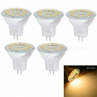 JRLED MR11 3W warmes Weiß 15-5733 SMD LED Lampen (AC / DC10 ~ 30V / 5PCS)