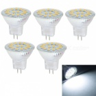JRLED MR11 3W kaltes Weiß 15-5733 SMD LED Lampen (AC / DC10 ~ 30V / 5pcs)