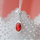 SILVERAGE Argent Coquille Style Rouge Collier double face