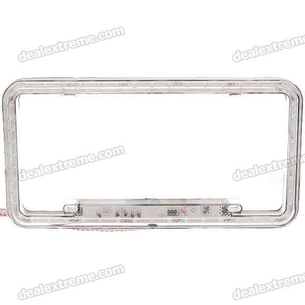 52-LED Car License Plate Frame Green Light (DC 12V) reccagni angelo бра reccagni angelo a 9690 2