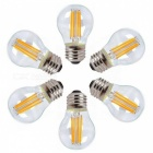 KWB G45 E27 4W Warm White Light  Dimmable LED Filament Bulbs (6 PCS)