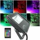 KWB 10W RGB White Light LED Outdoor Security Flood Light w/ US 3-Plug