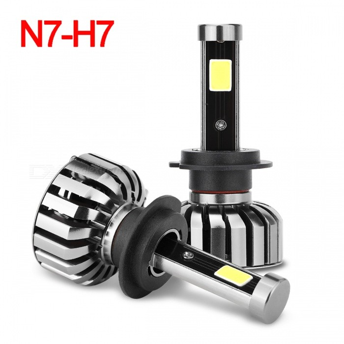 Joyshine N7-H7 80W 8000lmLED Cold White Light Car Headlights (2PCS)Fog Lights<br>Lamp ConnectorH7Color BINCold WhiteModelN7-H7Quantity2 piecesMaterialAluminum alloyForm ColorBlack + Iron GreyRate Voltage9~36VPowerOthers,80WColor Temperature6000KActual Lumens8000 lumensEmitter TypeCOBChip TypeXM-L2Total Emitters4Waterproof FunctionYesCertificationCE, RoHS, FCCPacking List2 x LED headlight bulbs1 x Manual<br>