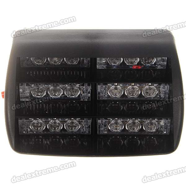 Car 18-LED Red/Blue Light (DC 12V)