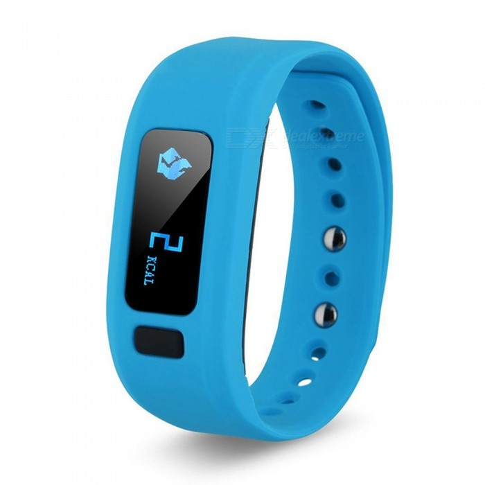 DMDG Bluetooth IP65 Sport Smart Watch Fitness Tracker - BlueSmart Bracelets<br>Form  ColorBlueQuantity1 DX.PCM.Model.AttributeModel.UnitMaterialTPU + siliconeShade Of ColorBlueWater-proofIP65Bluetooth VersionBluetooth V4.0Touch Screen TypeNoOperating SystemiOSCompatible OSIOS &amp; AndroidBattery Capacity60 DX.PCM.Model.AttributeModel.UnitBattery TypeLi-polymer batteryStandby Time7 DX.PCM.Model.AttributeModel.UnitPacking List1 x Smart Bracelet 1 x USB Cable 1 x English/Chinese User Manual<br>