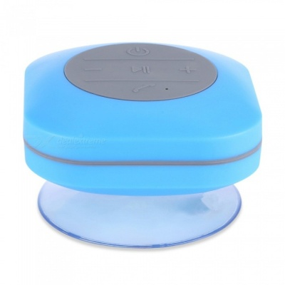 KELIMA BTS-O8 Waterproof Bluetooth Speaker w/ Suction Base - Blue