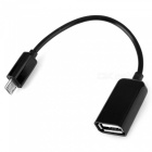 SZKINSTON USB2.0 Female to Micro USB Male OTG Cable - Black