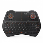 RII Mini i28C 62 Keys 2.4GHz + Bakgrundsbelysning Mini Keyboard - Svart