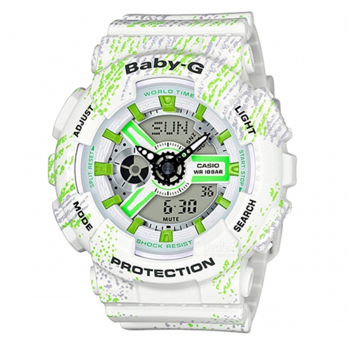 Casio Baby-G BA-110TX-7ADR Adult's Casual Watch - White