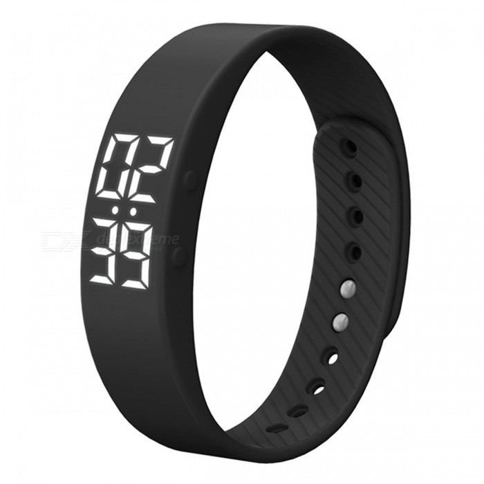 DMDG Sports IP67 Fitness Tracker Smart Bracelet w/ Alarm Clock - BlackSmart Bracelets<br>Form  ColorBlackQuantity1 DX.PCM.Model.AttributeModel.UnitShade Of ColorBlackWater-proofIP65Bluetooth VersionNoTouch Screen TypeNoOperating SystemNoCompatible OSNoBattery Capacity50 DX.PCM.Model.AttributeModel.UnitBattery TypeLi-polymer batteryStandby Time8 DX.PCM.Model.AttributeModel.UnitPacking List1 x Sport bracelet 1 x English user manual<br>