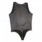 Men's Faux Leather Sexy Underwear Singlet Lingerie Bodysuit (L)