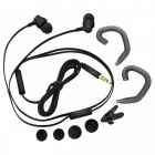 AWEI ES910 Heavy Bass HIFI Metal Wired Earphone w/ Mic - Black