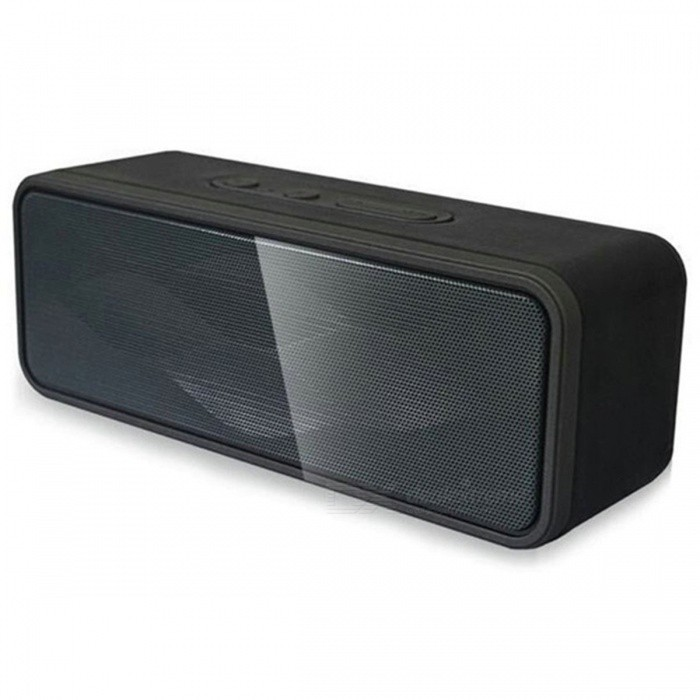 GS805 Super 3D Subwoofer Bass HiFi Portable Wireless Bluetooth SpeakerBluetooth Speakers<br>Form  ColorBlackModelGS805MaterialPlasticQuantity1 DX.PCM.Model.AttributeModel.UnitShade Of ColorBlackBluetooth HandsfreeYesBluetooth VersionBluetooth V4.0Operating Range10mSNR75dBFrequency Response60Hz~18KHzImpedance4 Ohm 3w*2+bass DX.PCM.Model.AttributeModel.UnitSupports Card TypeMicroSD (TF)Max Extended Capacity128GBBuilt-in Battery Capacity 1200 DX.PCM.Model.AttributeModel.UnitStandby Time150 DX.PCM.Model.AttributeModel.UnitMusic Play TimeNormal playing time is about 5 DX.PCM.Model.AttributeModel.UnitPower Supply5V 500mAPacking List1 x GS805 speaker1 x 3.5mm audio input line1 x USB charging line<br>