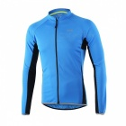 Arsuxeo Outdoor Sports Long Sleeve Men's Cycling Jersey - Blue (M)