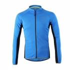 Arsuxeo Outdoor Sports Long Sleeve Men's Cycling Jersey - Blue (L)