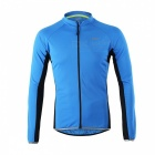 Arsuxeo Outdoor Sports Long Sleeve Men's Cycling Jersey - Blue (XL)