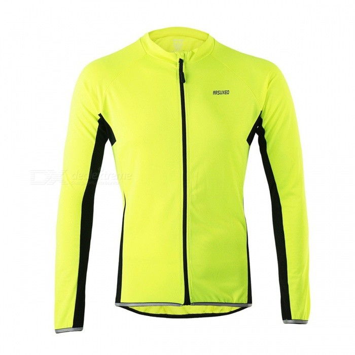 ARSUXEO 6022 Mens Long-Sleeved Cycling Jersey - Green (L)Form  ColorFluorescent GreenSizeLModel6022Quantity1 DX.PCM.Model.AttributeModel.UnitMaterialPolyesterGenderMensSeasonsSpring and SummerShoulder WidthN/A DX.PCM.Model.AttributeModel.UnitChest Girth98 DX.PCM.Model.AttributeModel.UnitSleeve Length79 DX.PCM.Model.AttributeModel.UnitTotal Length59/71 DX.PCM.Model.AttributeModel.UnitWaistNo DX.PCM.Model.AttributeModel.UnitTotal LengthNo DX.PCM.Model.AttributeModel.UnitSuitable for Height160-175 DX.PCM.Model.AttributeModel.UnitBest UseCycling,Mountain Cycling,Recreational Cycling,Road Cycling,Triathlon,Bike commuting &amp; touringSuitable forAdultsTypeLong JerseysPacking List1 x Cycling Jersey<br>