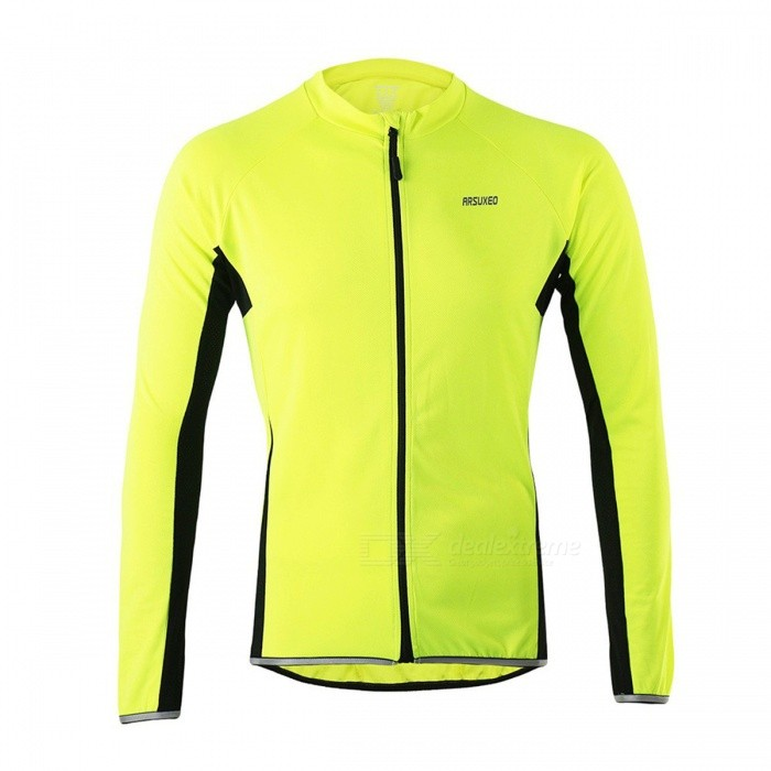 ARSUXEO 6022 Mens Long-Sleeved Cycling Jersey - Green (XL)Form  ColorFluorescent GreenSizeXLModel6022Quantity1 DX.PCM.Model.AttributeModel.UnitMaterialPolyesterGenderMensSeasonsSpring and SummerShoulder WidthN/A DX.PCM.Model.AttributeModel.UnitChest Girth102 DX.PCM.Model.AttributeModel.UnitSleeve Length80 DX.PCM.Model.AttributeModel.UnitTotal Length61/73 DX.PCM.Model.AttributeModel.UnitWaistNo DX.PCM.Model.AttributeModel.UnitTotal LengthNo DX.PCM.Model.AttributeModel.UnitSuitable for Height160-180 DX.PCM.Model.AttributeModel.UnitBest UseCycling,Mountain Cycling,Recreational Cycling,Road Cycling,Triathlon,Bike commuting &amp; touringSuitable forAdultsTypeLong JerseysPacking List1 x Cycling Jersey<br>