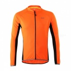 Arsuxeo Cycling Quick-Drying Polyester Long-Sleeve Jersey - Orange (L)