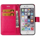 BLCR Elephant Pattern PU + TPU Wallet Case for IPHONE 6 / 6S - Red