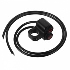 Eastor DC 12V/16A Waterproof Motorcycle Red Light Switch - Black + Red