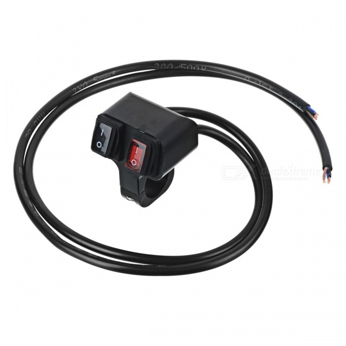 Eastor DC 12V/16A Waterproof Motorcycle 2-Way Switch - Black + Red