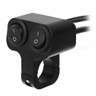 Eastor 12V/10A Aluminium Alloy 2-Way Motorcycle Switch - Black