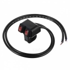 Eastor DC 12V/16A Waterproof Motorcycle Red Light Switches - Black