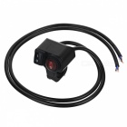 Eastor DC 12V/16A Waterproof 2-Way Red Light Motorcycle Switch - Black
