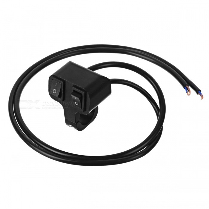 Eastor DC 12V10A 2Way Wired Motorcycle Handlebar Switch Black