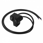 Eastor DC 12V/10A 2-Way Wired Motorcycle Handlebar Switch - Black