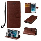 BLCR Elephant Pattern PU + TPU Wallet Case for IPHONE SE/5S/ 5 - Brown