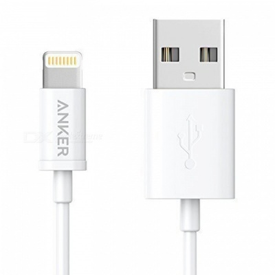 Anker Apple MFi Certified Premium Lightning to USB Cable - White (3ft)