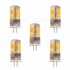 YWXLight G4 3W 40-5730SMD LED Warm White Light Silicone Lamps (5PCS)