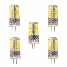 YWXLight G4 3W 40-5730SMD LED Cold White Light Silikonlampor (5PCS)