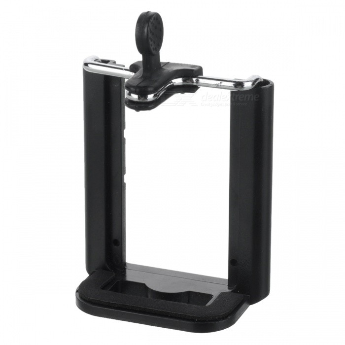 Muovi + Metal Scalable Mobile Clip Selfie Bracket - Musta