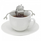 Maikou Creative Robot Tea Infuser and Drip Tray - Silver